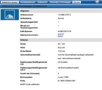 ATE Bremsscheibensatz 24.0112-0186.1